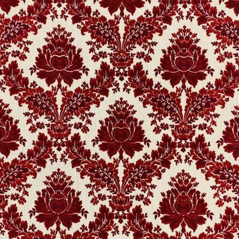 1970s Vintage Flocked Velour Wallpaper 1
