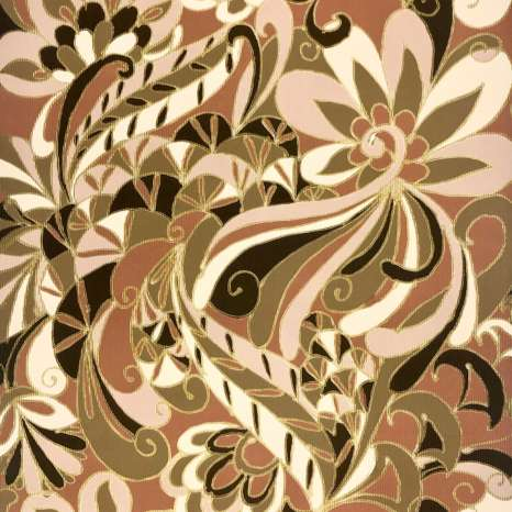 Vintage Gold Geometric Wallpaper