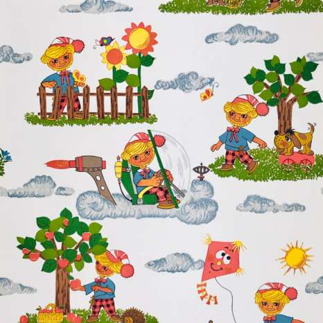 1970s Vintage Childrens Wallpaper 4