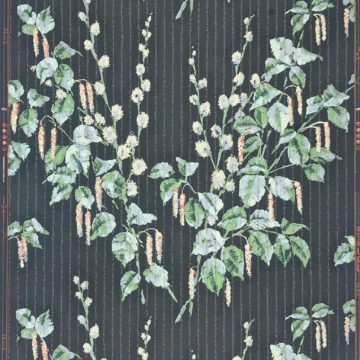 1920s vintage wallpaper flowers on black 1