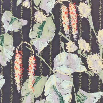 1920s vintage wallpaper flowers on black 3