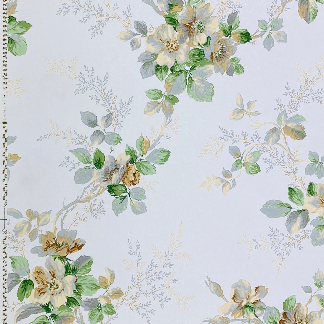1930s Floral Wallpaper Flowers 6