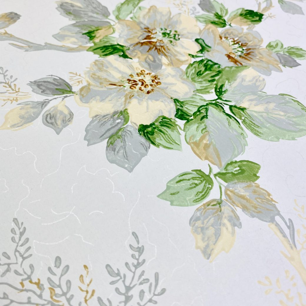 1930s Floral Wallpaper Flowers 7
