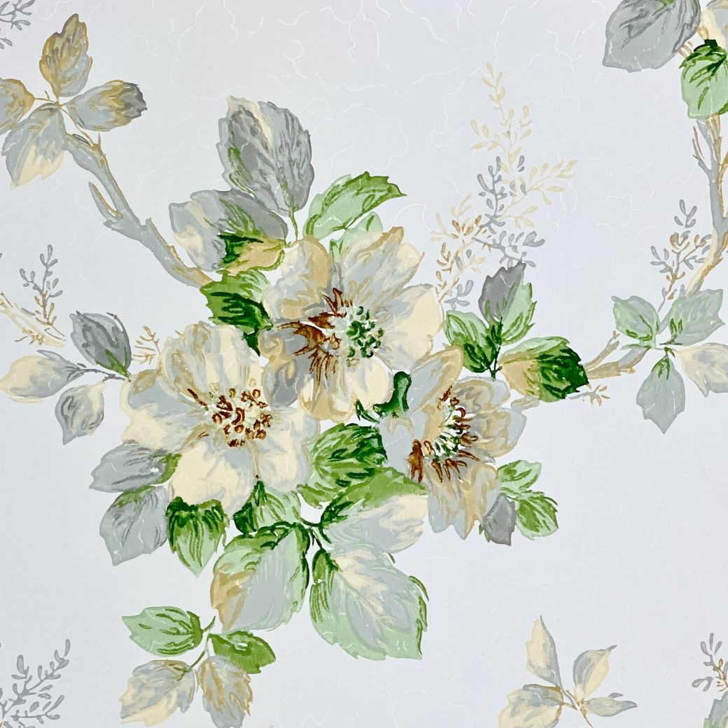 1930s Floral Wallpaper Flowers 8