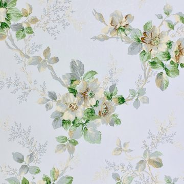 1930s Floral Wallpaper Flowers 2