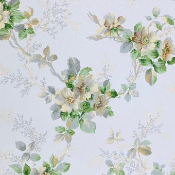 1930s Floral Wallpaper Flowers 3