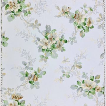 1930s Floral Wallpaper Flowers