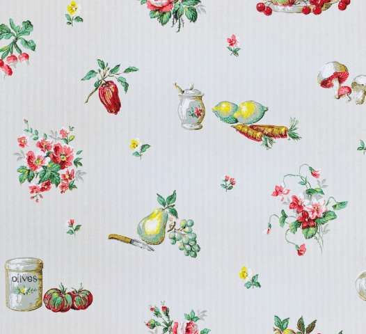 1930s Kitchen Theme Wallpaper