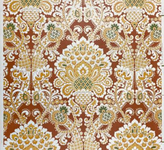 1940s Baroque Wallpaper Gold and Brown