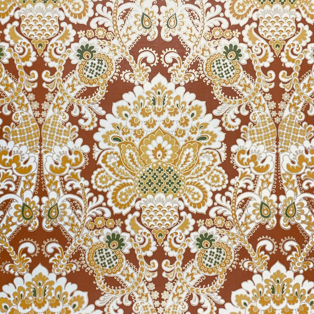 1940s Baroque Wallpaper Gold and Brown 2