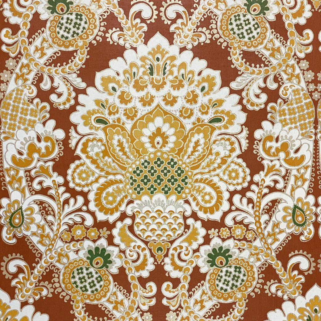 1940s Baroque Wallpaper Gold and Brown 4