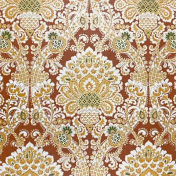 1940s Baroque Wallpaper Gold and Brown 1