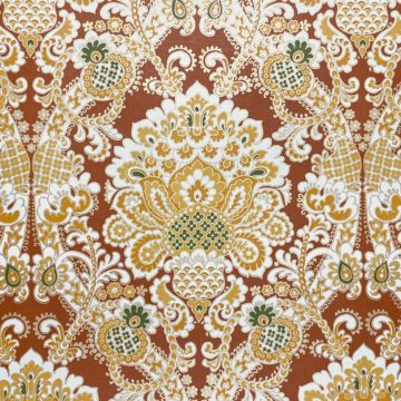 1940s Baroque Wallpaper Gold and Brown 3