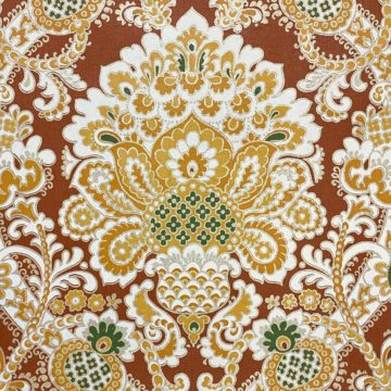 1940s Baroque Wallpaper Gold and Brown 5
