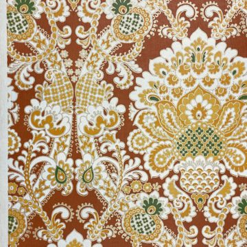 1940s Baroque Wallpaper Gold and Brown 6