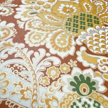 1940s Baroque Wallpaper Gold and Brown 7