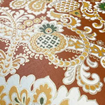 1940s Baroque Wallpaper Gold and Brown 8