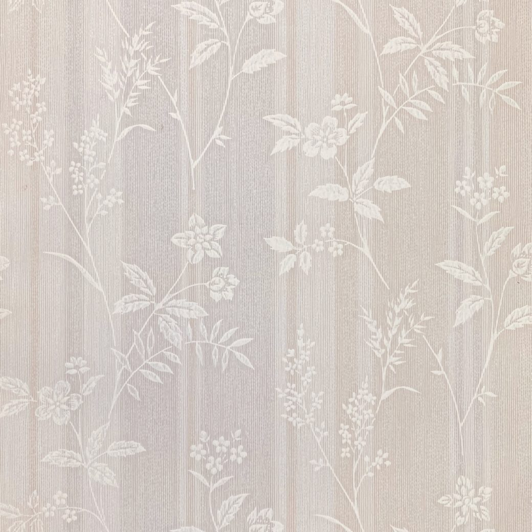 1940s Floral Striped Wallpaper 1