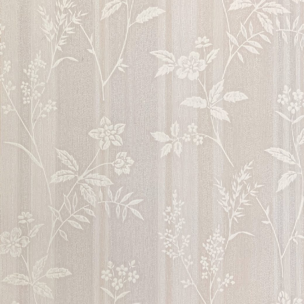 1940s Floral Striped Wallpaper 2