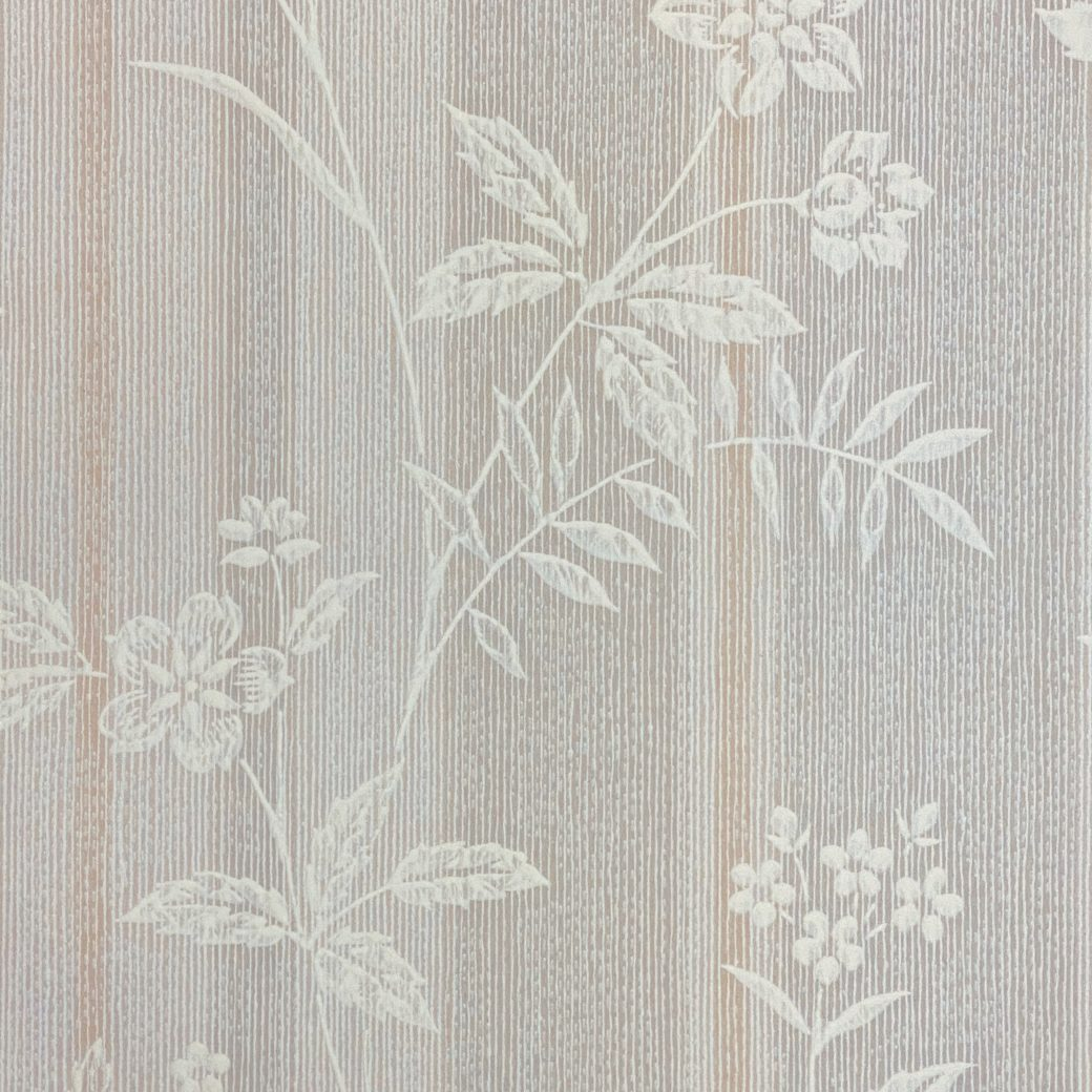 1940s Floral Striped Wallpaper 4