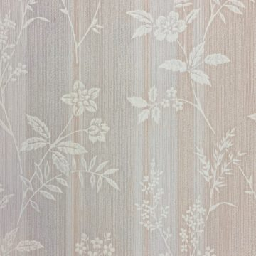 1940s Floral Striped Wallpaper 3