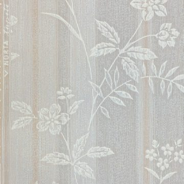 1940s Floral Striped Wallpaper 5