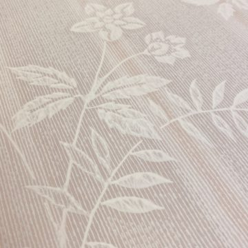 1940s Floral Striped Wallpaper 7