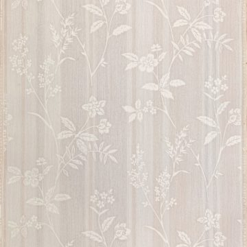 1940s Floral Striped Wallpaper