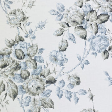 1940s Floral Wallpaper Blue and Black Flowers 3
