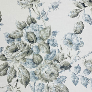 1940s Floral Wallpaper Blue and Black Flowers 5