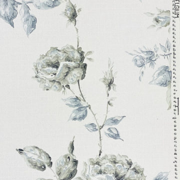 1940s Floral Wallpaper Blue and Black Flowers 6