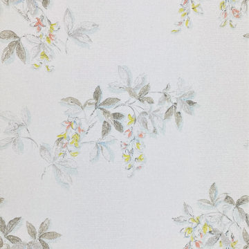 1940s Floral Wallpaper Blue Yellow Flowers 1