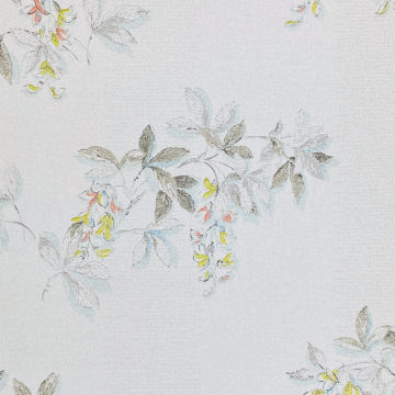1940s Floral Wallpaper Blue Yellow Flowers 2