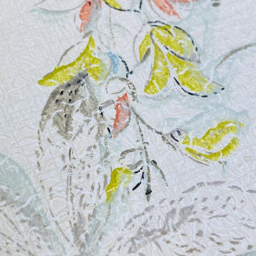 1940s Floral Wallpaper Blue Yellow Flowers 10