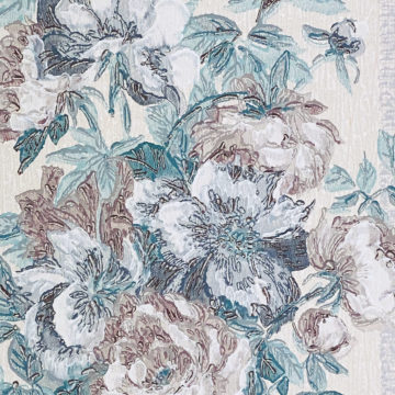 1940s Floral Wallpaper Purple and Blue 8