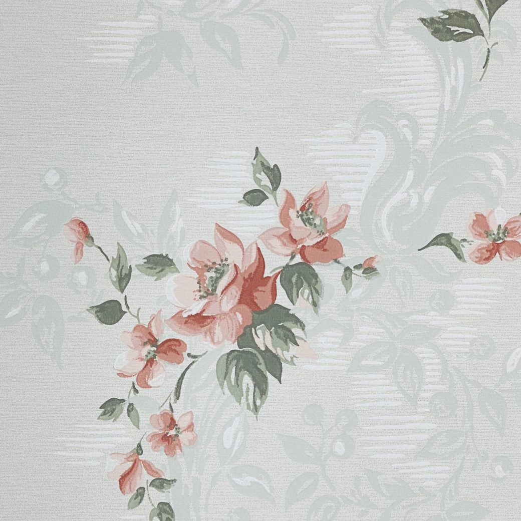 1940s Floral Wallpaper Red Roses 5