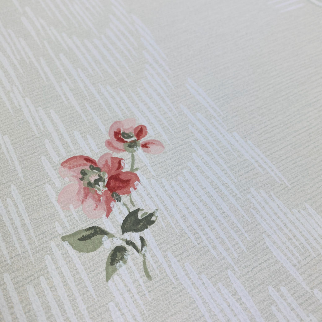 1940s Floral Wallpaper Red Roses 7