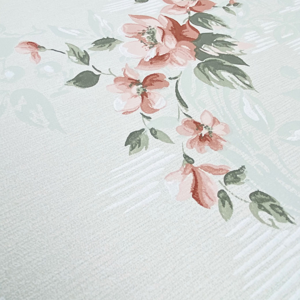 1940s Floral Wallpaper Red Roses 9