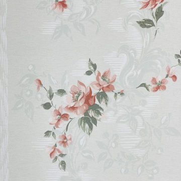 1940s Floral Wallpaper Red Roses 4