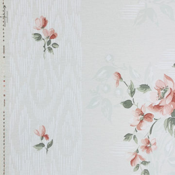 1940s Floral Wallpaper Red Roses 6