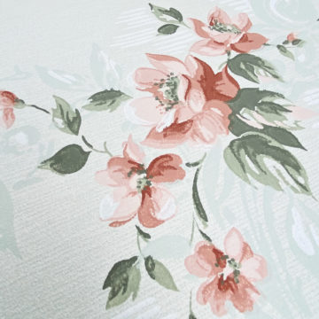 1940s Floral Wallpaper Red Roses 10