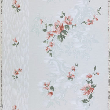 1940s Floral Wallpaper Red Roses