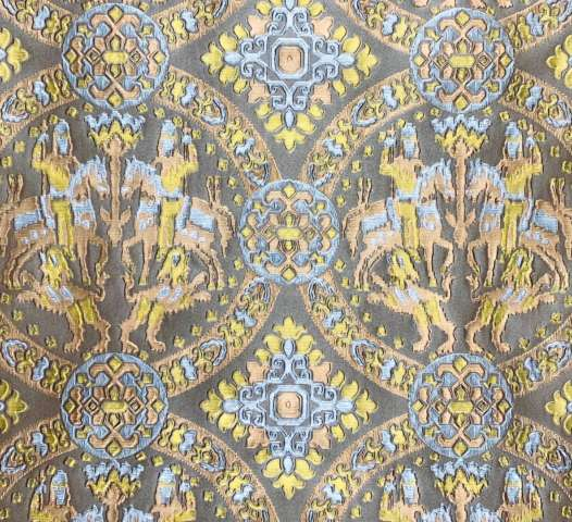 1940s Medaillon Wallpaper Gold Bronze Silver 1