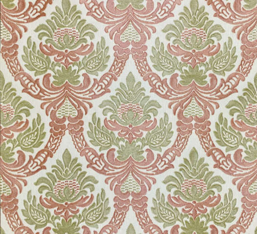 1950s Embossed Baroque Wallpaper