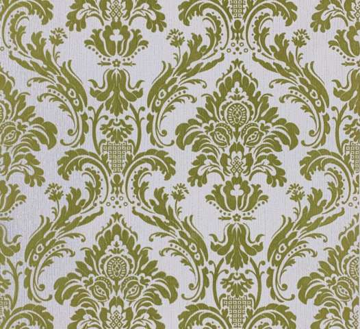 Baroque velvet flocked wallpaper 1