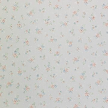 1950s Floral Striped Wallpaper 1