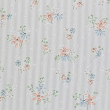 1950s Floral Striped Wallpaper 3