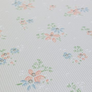 1950s Floral Striped Wallpaper 4