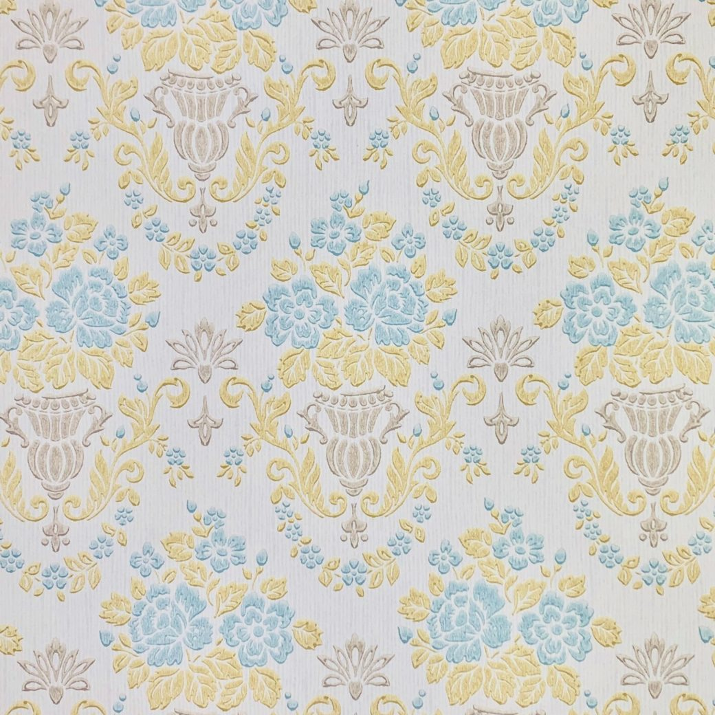 1950s vintage damask wallpaper 2