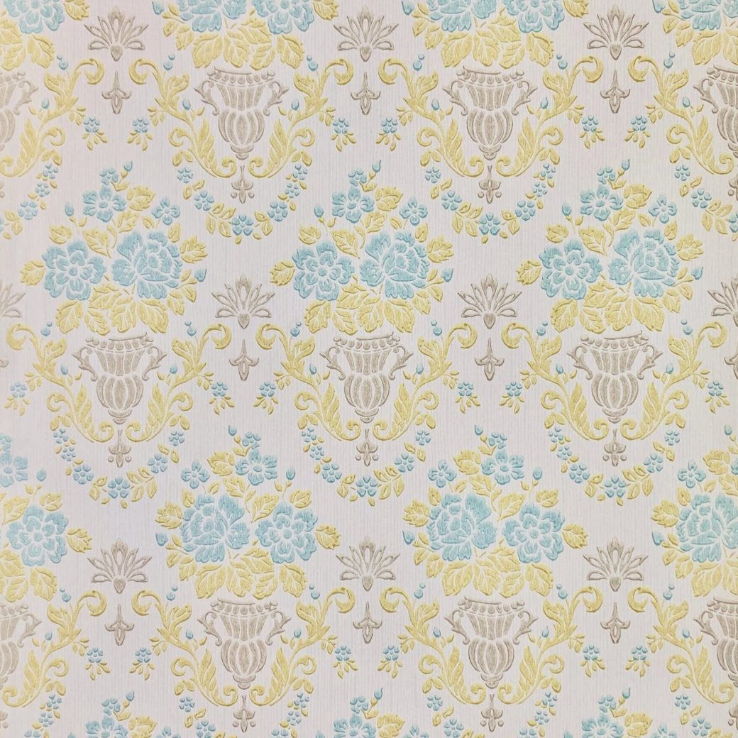 1950s vintage damask wallpaper